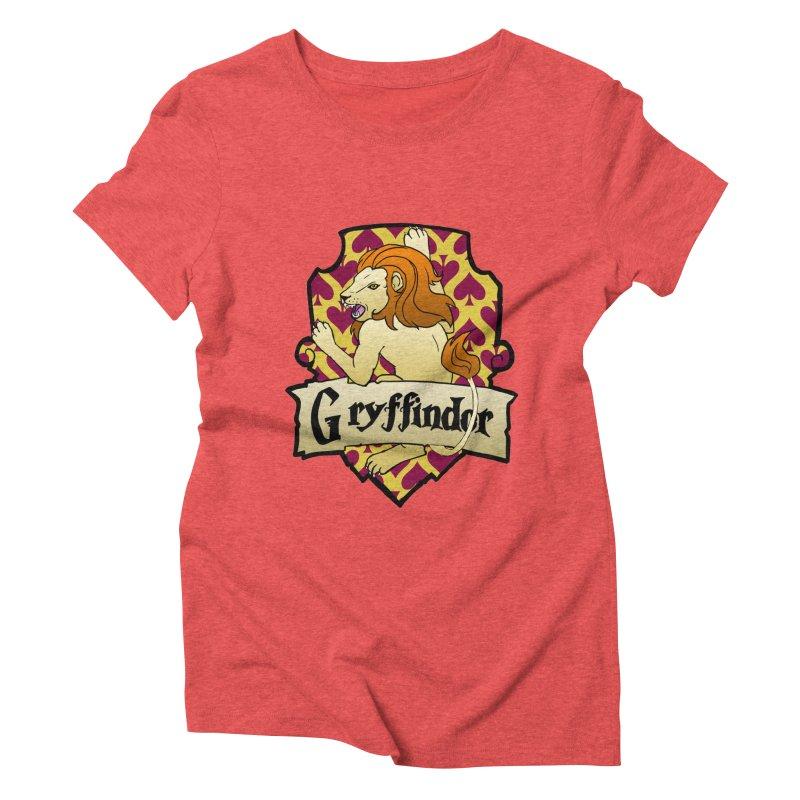 Courage House Crest Women's Triblend T-Shirt by ariesnamarie's Artist Shop