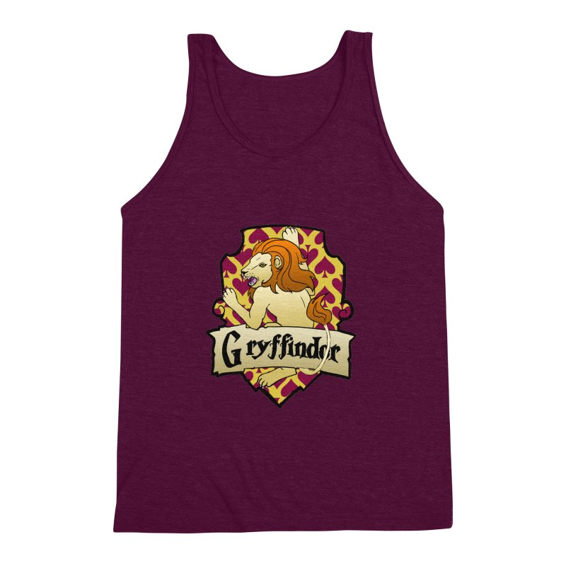 Courage House Crest Men's Triblend Tank by ariesnamarie's Artist Shop