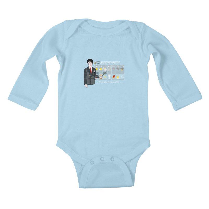 A Storm's Coming Kids Baby Longsleeve Bodysuit by ariesnamarie's Artist Shop