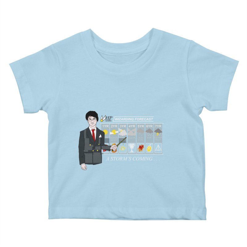 A Storm's Coming Kids Baby T-Shirt by ariesnamarie's Artist Shop