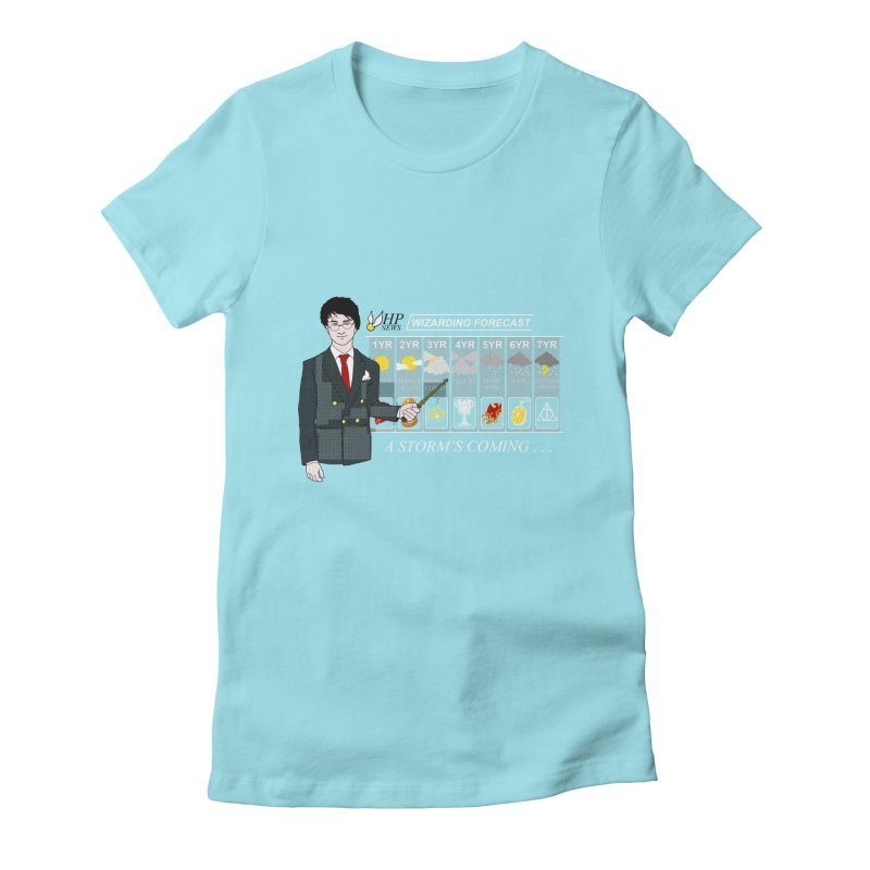 A Storm's Coming Women's Fitted T-Shirt by ariesnamarie's Artist Shop