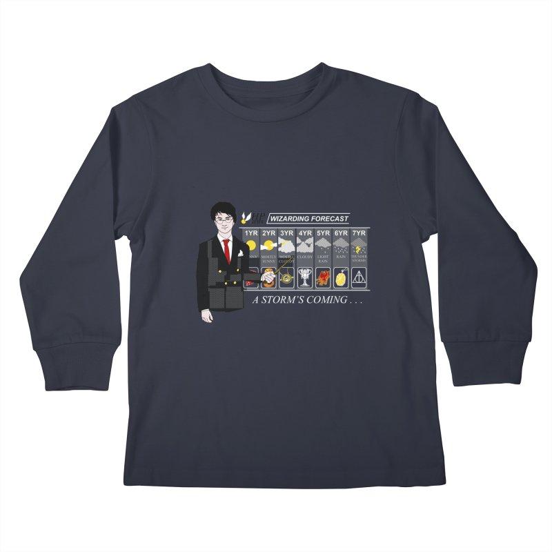 A Storm's Coming Kids Longsleeve T-Shirt by ariesnamarie's Artist Shop