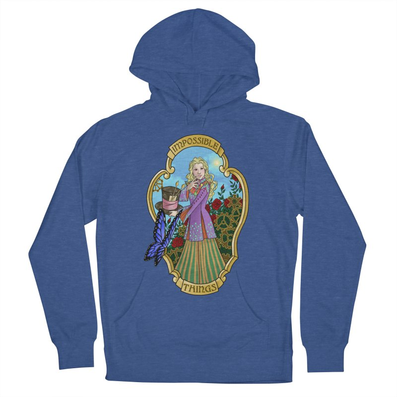Impossible Things Women's French Terry Pullover Hoody by ariesnamarie's Artist Shop