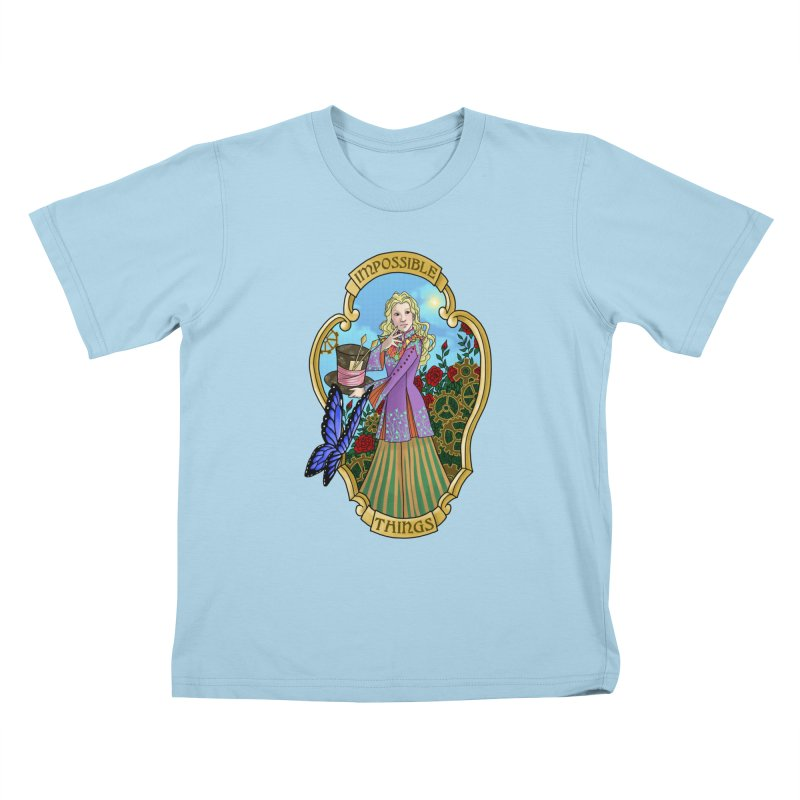 Impossible Things Kids T-Shirt by ariesnamarie's Artist Shop
