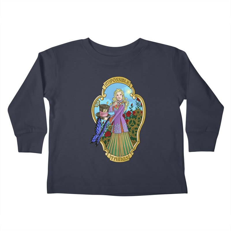 Impossible Things Kids Toddler Longsleeve T-Shirt by ariesnamarie's Artist Shop
