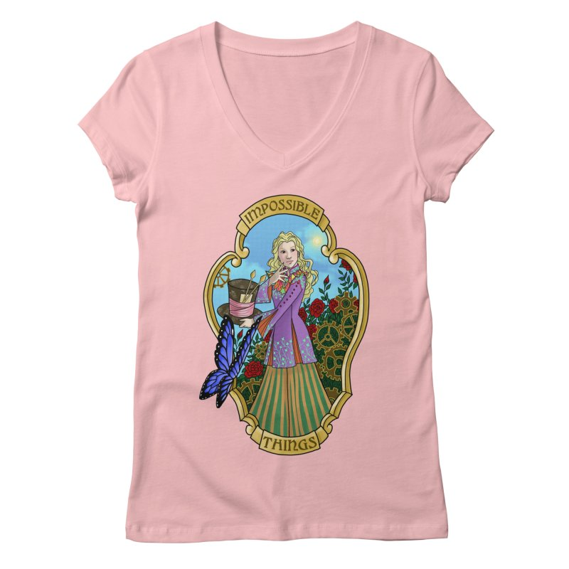 Impossible Things Women's V-Neck by ariesnamarie's Artist Shop