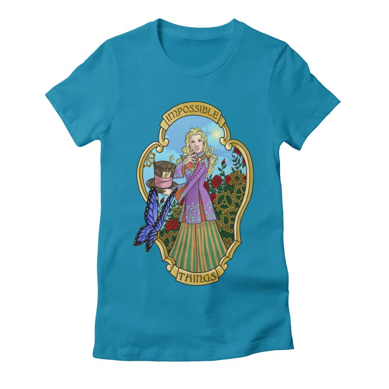 Impossible Things Women's Fitted T-Shirt by ariesnamarie's Artist Shop