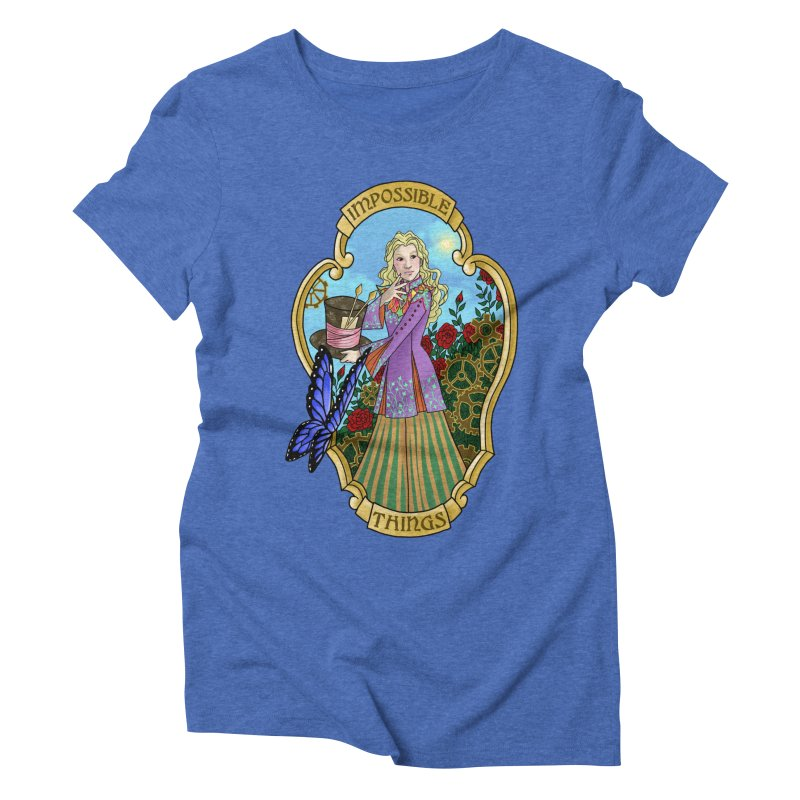 Impossible Things Women's Triblend T-Shirt by ariesnamarie's Artist Shop