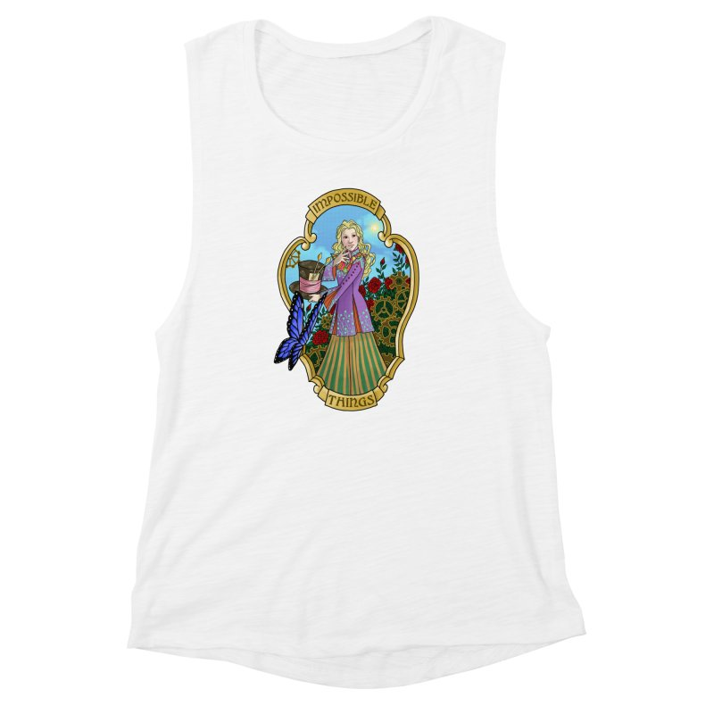 Impossible Things Women's Muscle Tank by ariesnamarie's Artist Shop