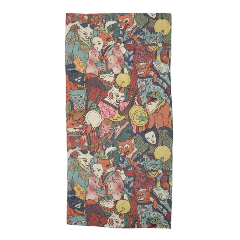 Night parade Accessories Beach Towel by arisuber's Artist Shop