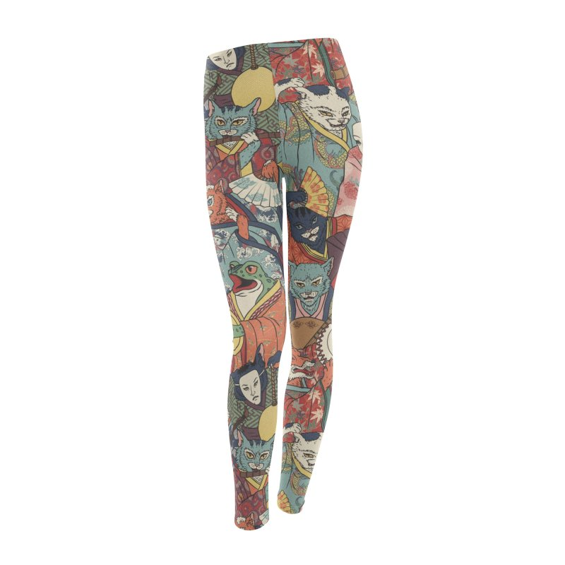 Night parade Women's Leggings Bottoms by arisuber's Artist Shop