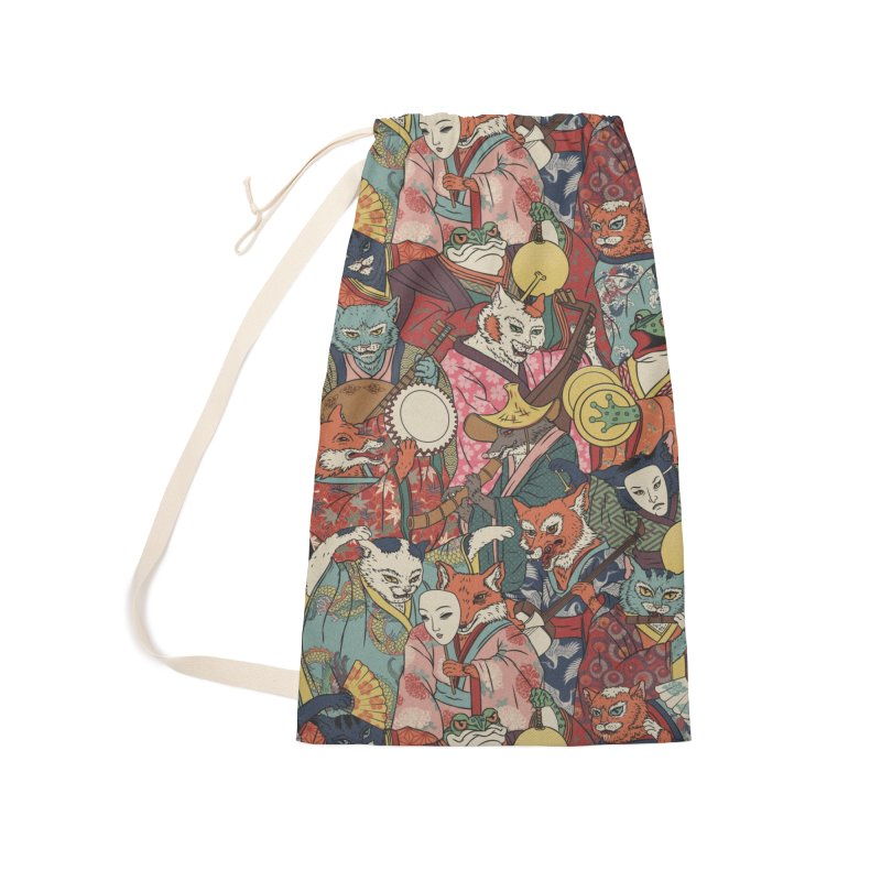 Night parade Accessories Laundry Bag Bag by arisuber's Artist Shop