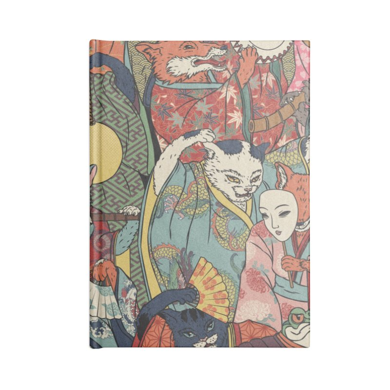 Night parade Accessories Lined Journal Notebook by arisuber's Artist Shop