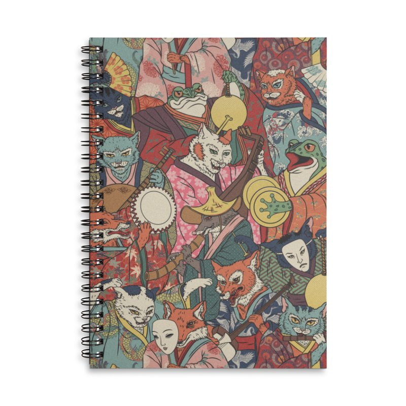 Night parade Accessories Lined Spiral Notebook by arisuber's Artist Shop