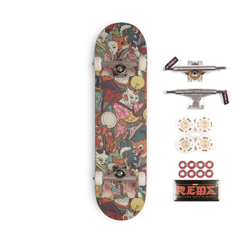 Night parade Accessories Complete - Pro Skateboard by arisuber's Artist Shop