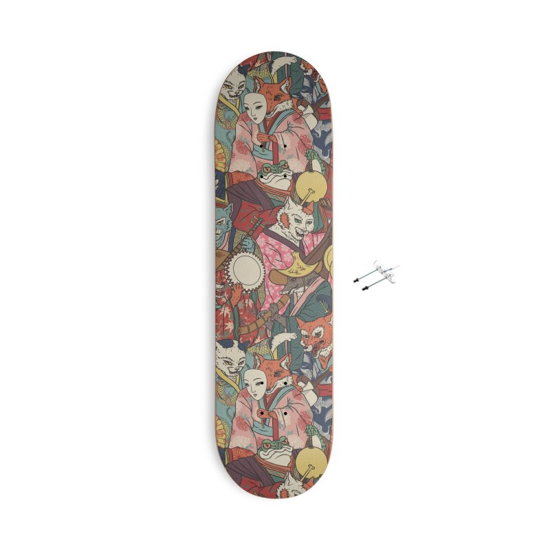 Night parade Accessories With Hanging Hardware Skateboard by arisuber's Artist Shop