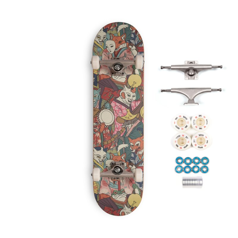 Night parade Accessories Complete - Premium Skateboard by arisuber's Artist Shop