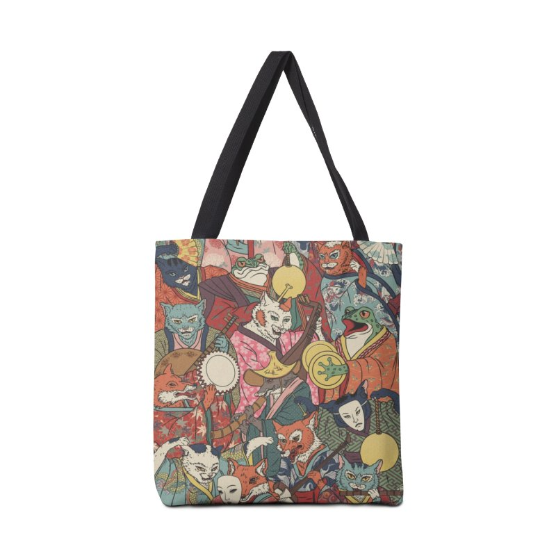 Night parade Accessories Tote Bag Bag by arisuber's Artist Shop