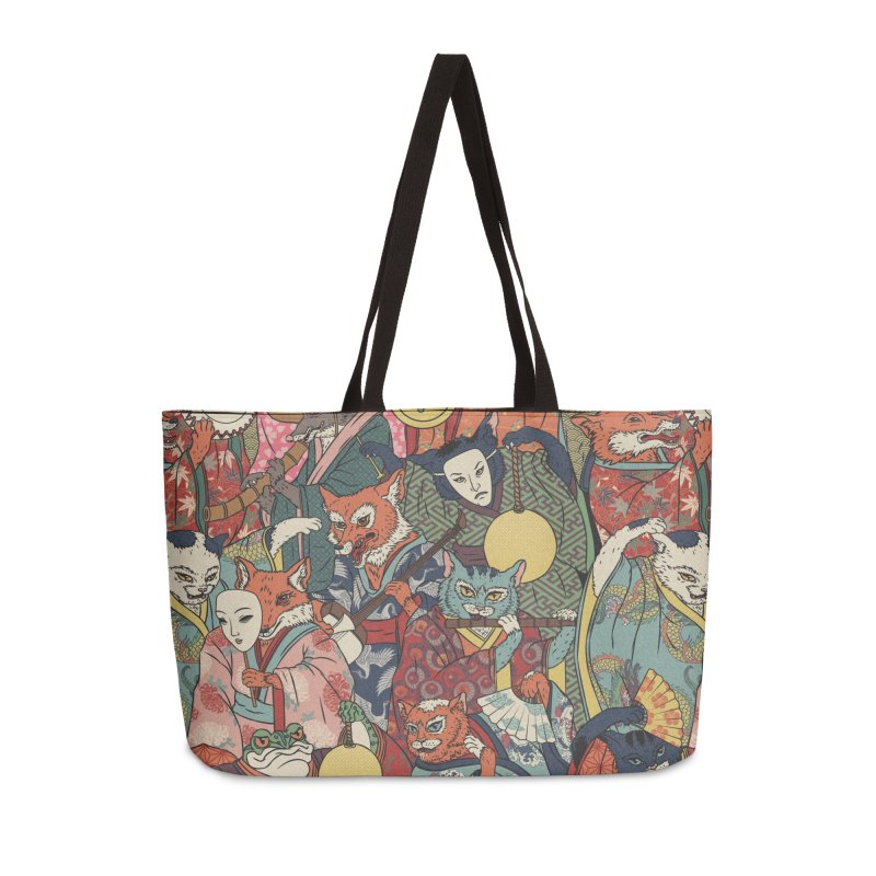 Night parade Accessories Weekender Bag Bag by arisuber's Artist Shop
