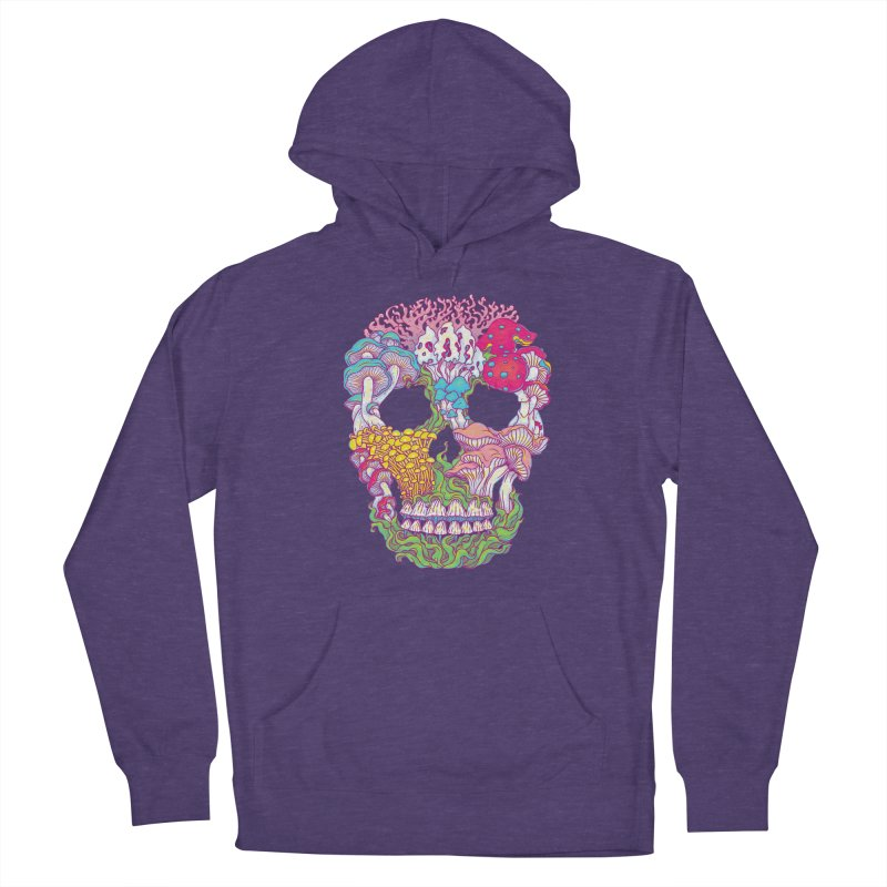 Mushrooms Men's French Terry Pullover Hoody by arisuber's Artist Shop