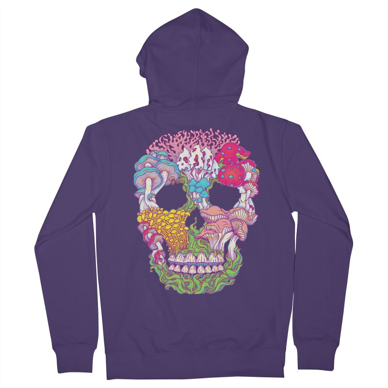 Mushrooms Women's French Terry Zip-Up Hoody by arisuber's Artist Shop