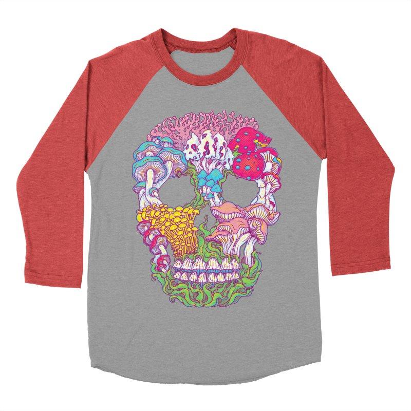 Mushrooms Women's Baseball Triblend T-Shirt by arisuber's Artist Shop