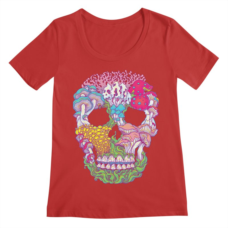 Mushrooms Women's Regular Scoop Neck by arisuber's Artist Shop