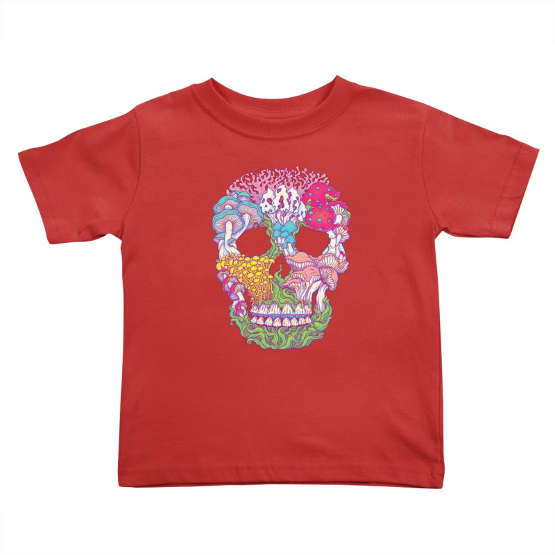 Mushrooms Kids Toddler T-Shirt by arisuber's Artist Shop