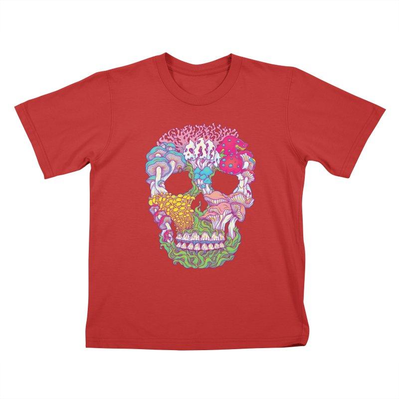 Mushrooms Kids T-Shirt by arisuber's Artist Shop
