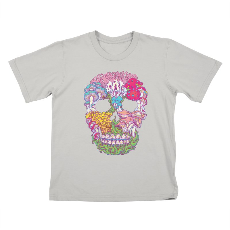 Mushrooms Kids T-Shirt by arisuber's Artist Shop
