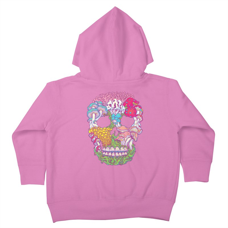 Mushrooms Kids Toddler Zip-Up Hoody by arisuber's Artist Shop