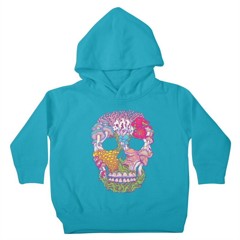 Mushrooms Kids Toddler Pullover Hoody by arisuber's Artist Shop