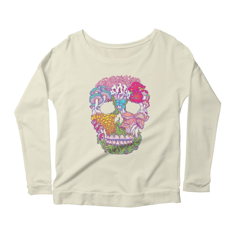 Mushrooms Women's Longsleeve Scoopneck  by arisuber's Artist Shop