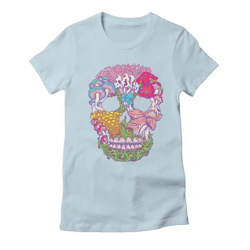 Mushrooms Women's Fitted T-Shirt by arisuber's Artist Shop