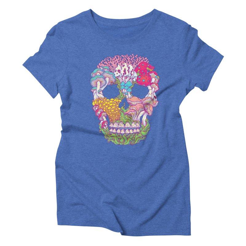 Mushrooms Women's Triblend T-Shirt by arisuber's Artist Shop