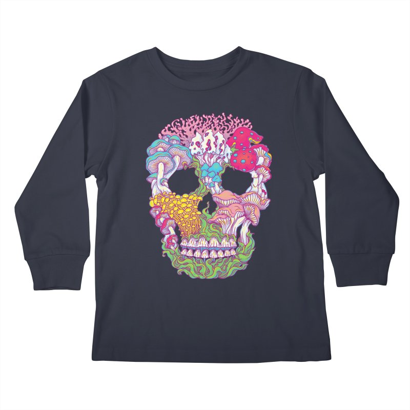 Mushrooms Kids Longsleeve T-Shirt by arisuber's Artist Shop