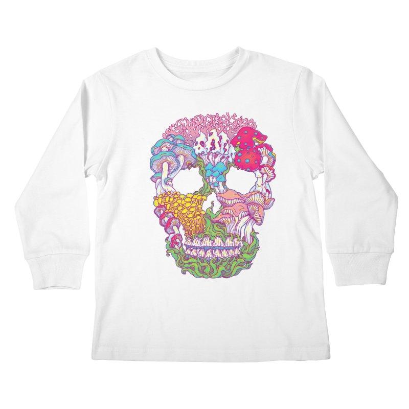 Mushrooms Kids Longsleeve T-Shirt by arisuber's Artist Shop