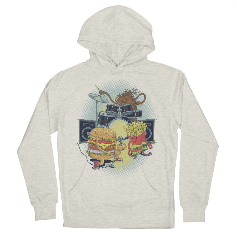 Tasty tunes Women's French Terry Pullover Hoody by arisuber's Artist Shop