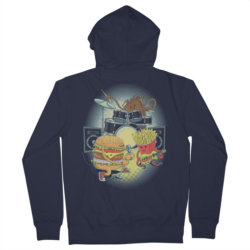 Tasty tunes Women's French Terry Zip-Up Hoody by arisuber's Artist Shop
