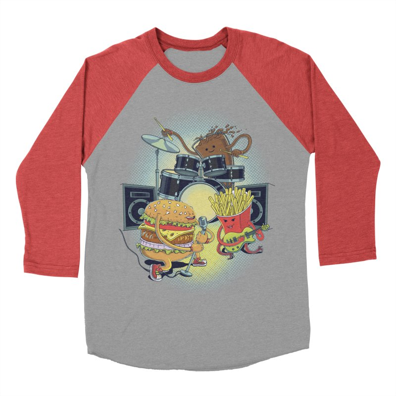Tasty tunes Men's Baseball Triblend T-Shirt by arisuber's Artist Shop