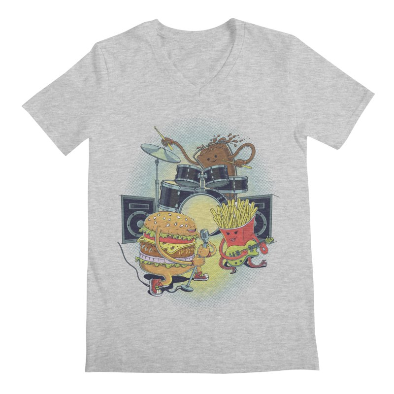 Tasty tunes Men's V-Neck by arisuber's Artist Shop