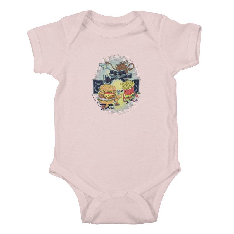 Tasty tunes Kids Baby Bodysuit by arisuber's Artist Shop