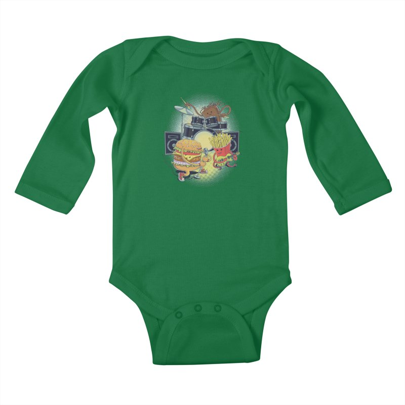 Tasty tunes Kids Baby Longsleeve Bodysuit by arisuber's Artist Shop