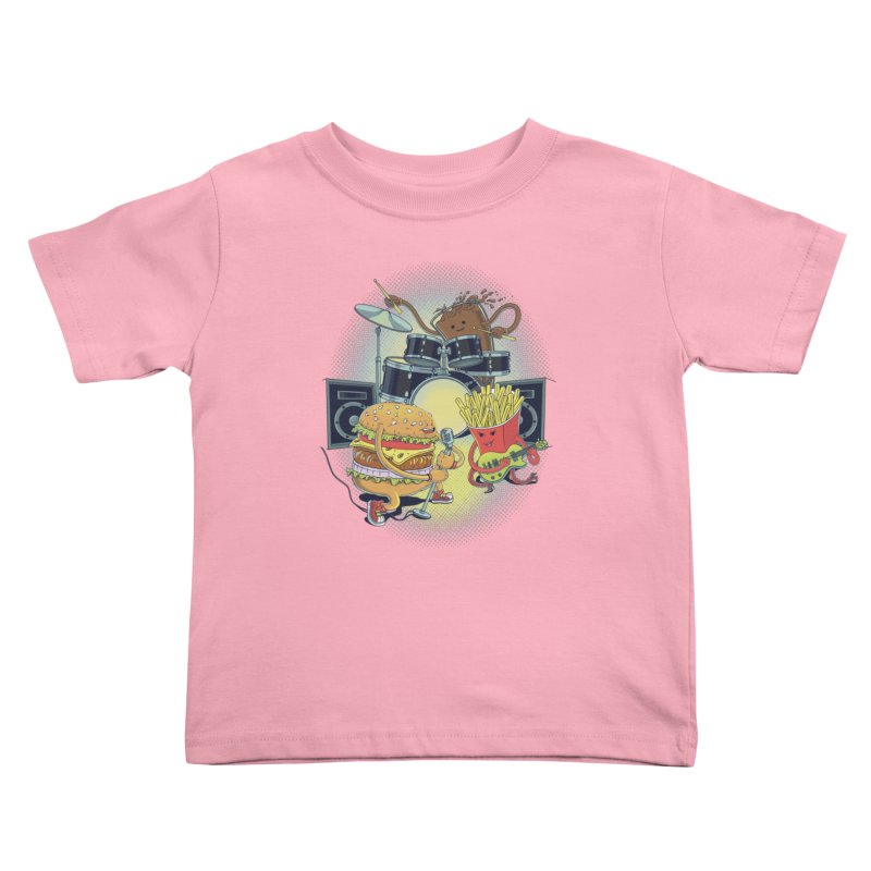 Tasty tunes Kids Toddler T-Shirt by arisuber's Artist Shop