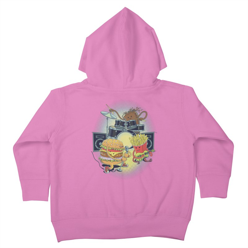 Tasty tunes Kids Toddler Zip-Up Hoody by arisuber's Artist Shop