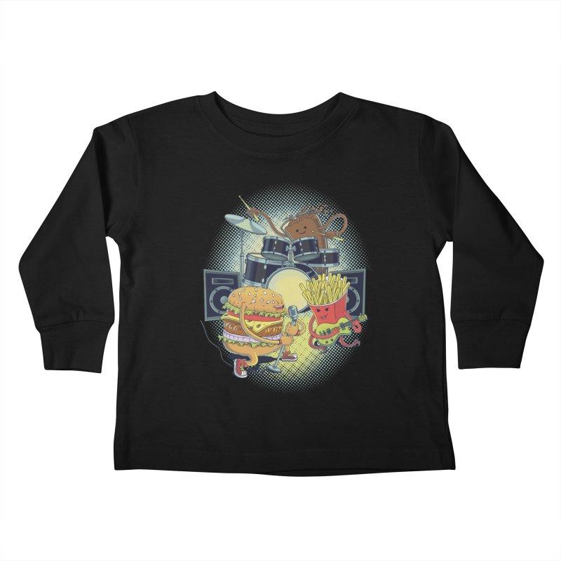 Tasty tunes Kids Toddler Longsleeve T-Shirt by arisuber's Artist Shop