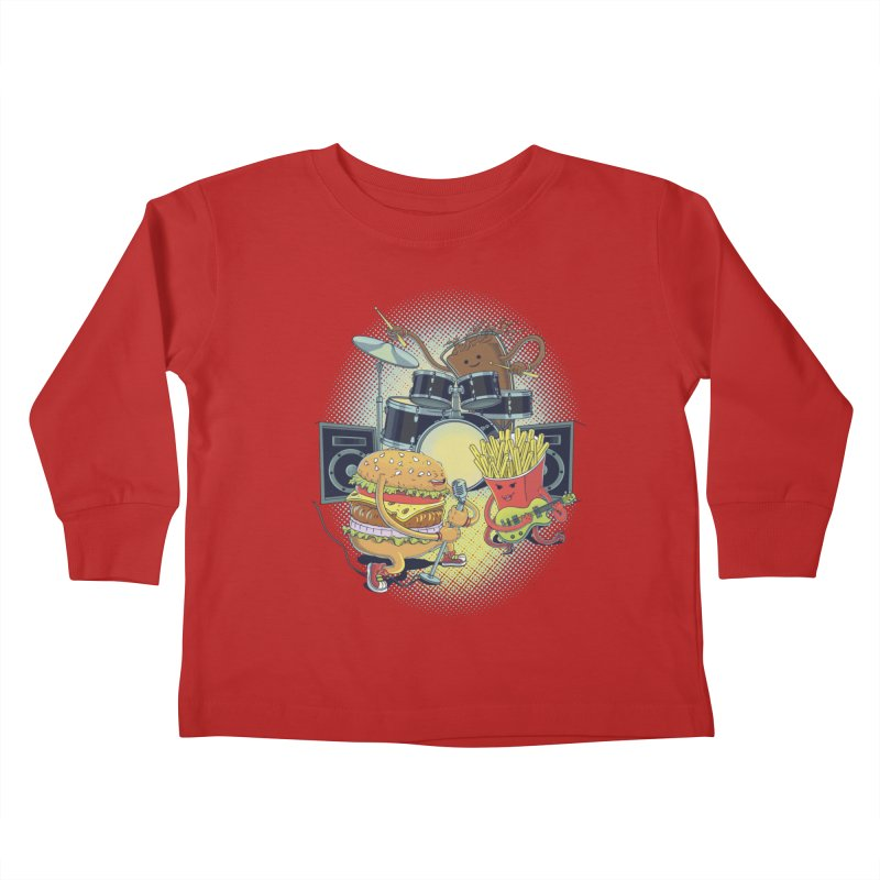 Tasty tunes Kids Toddler Longsleeve T-Shirt by arisuber's Artist Shop