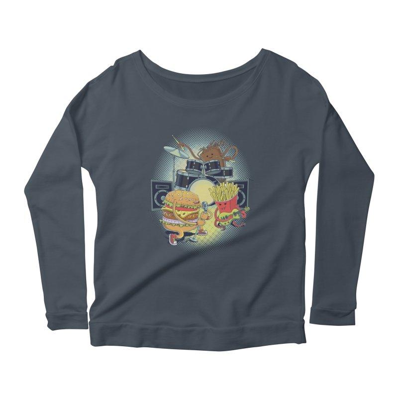 Tasty tunes Women's Scoop Neck Longsleeve T-Shirt by arisuber's Artist Shop