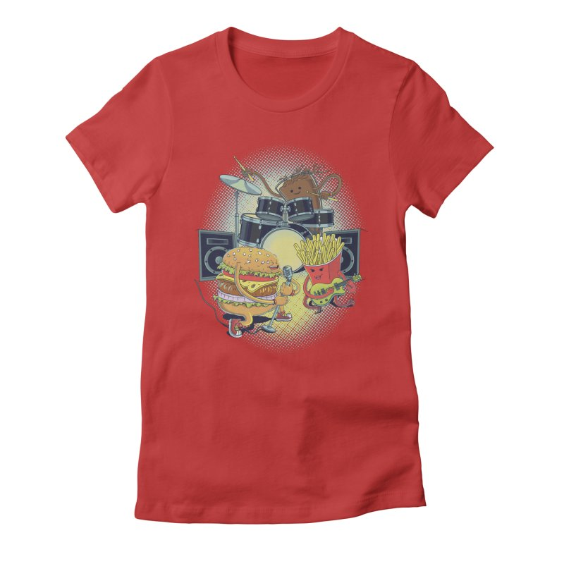 Tasty tunes Women's Fitted T-Shirt by arisuber's Artist Shop
