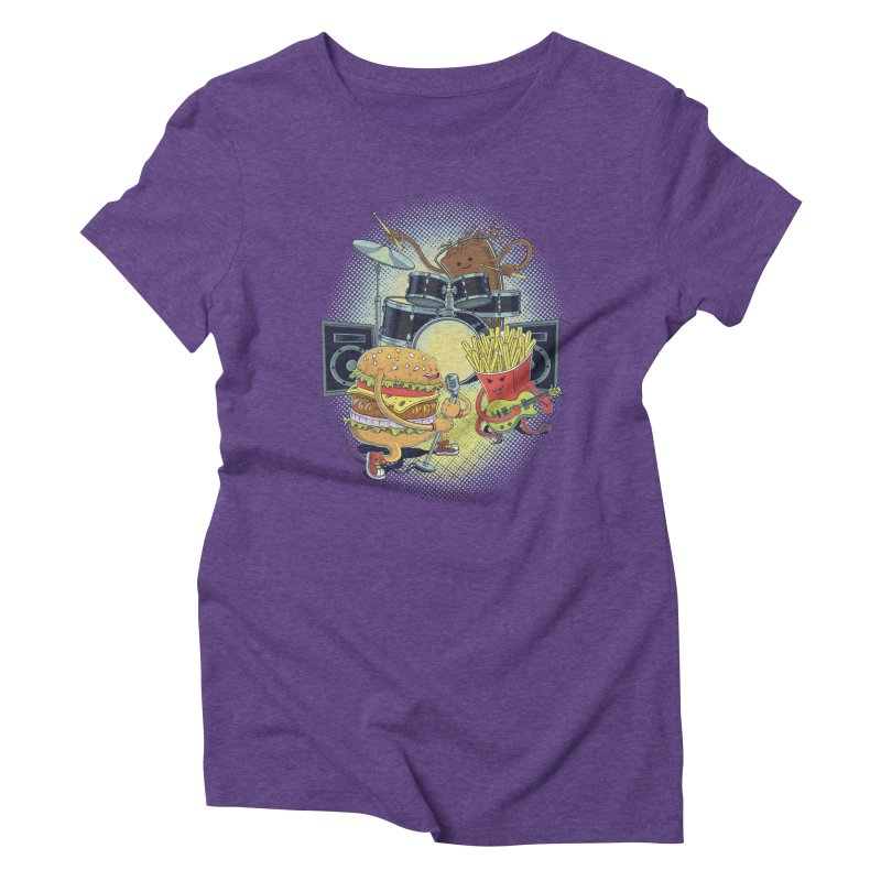Tasty tunes Women's Triblend T-shirt by arisuber's Artist Shop